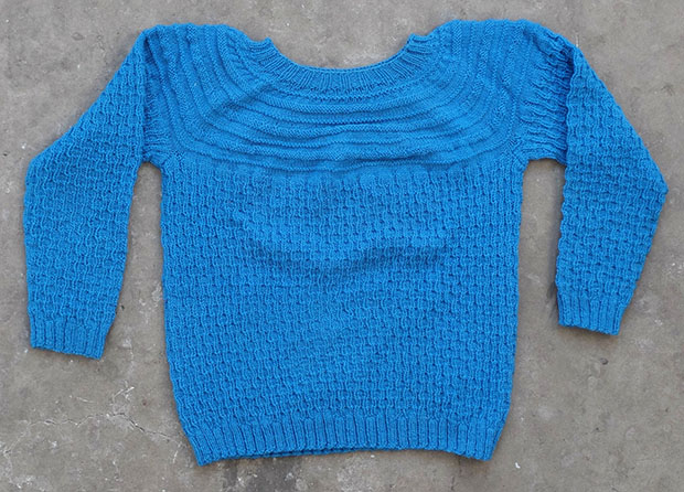Blue Cable Knit (00035)