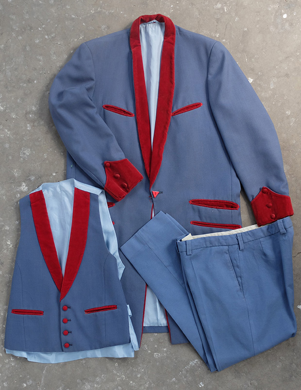 Red And Blue Teddy Boy Drape Suit