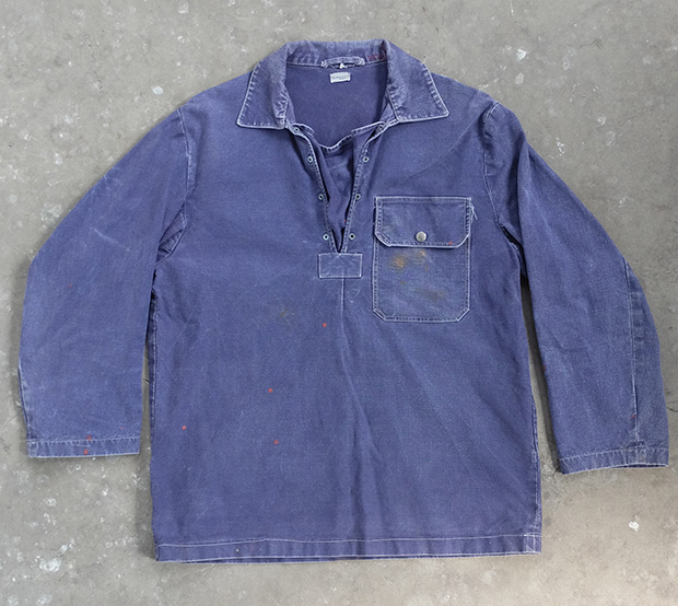 Paint Splash Blue Denim Sailing/artist Smock