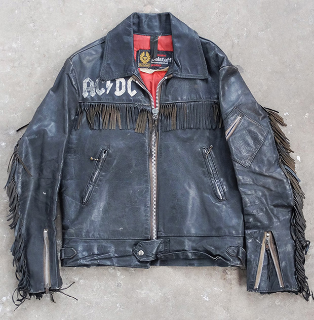 1970s Belstaff Painted Fringed Rocker Leather (00506)