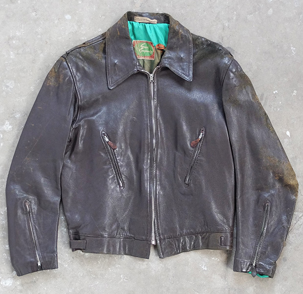 1940s Brown Good Company Leather Jacket (00518)