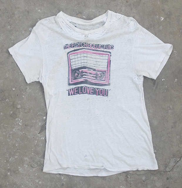 The Psychedelic Furs Distressed T-shirt (01076)