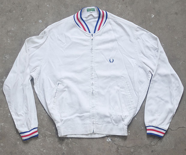 1960s White Fred Perry Bomber Jacket (01156)
