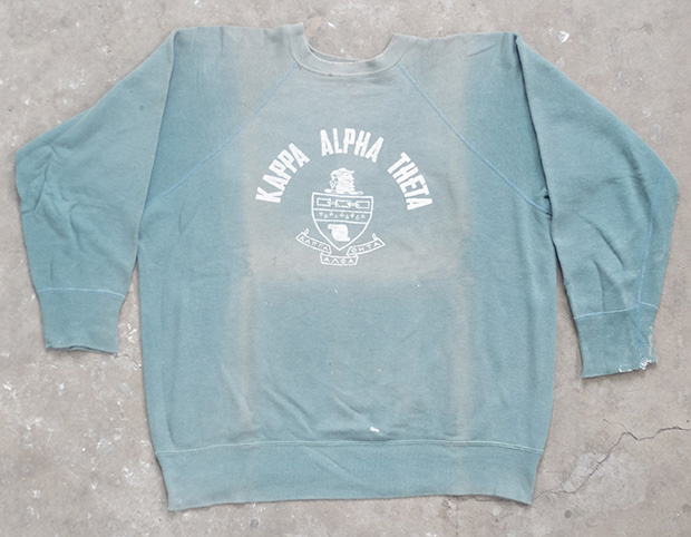 Faded Teal US College Sweatshirt (01264)