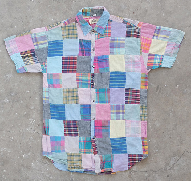 1980s Patchwork Short-sleeve Shirt (01404)
