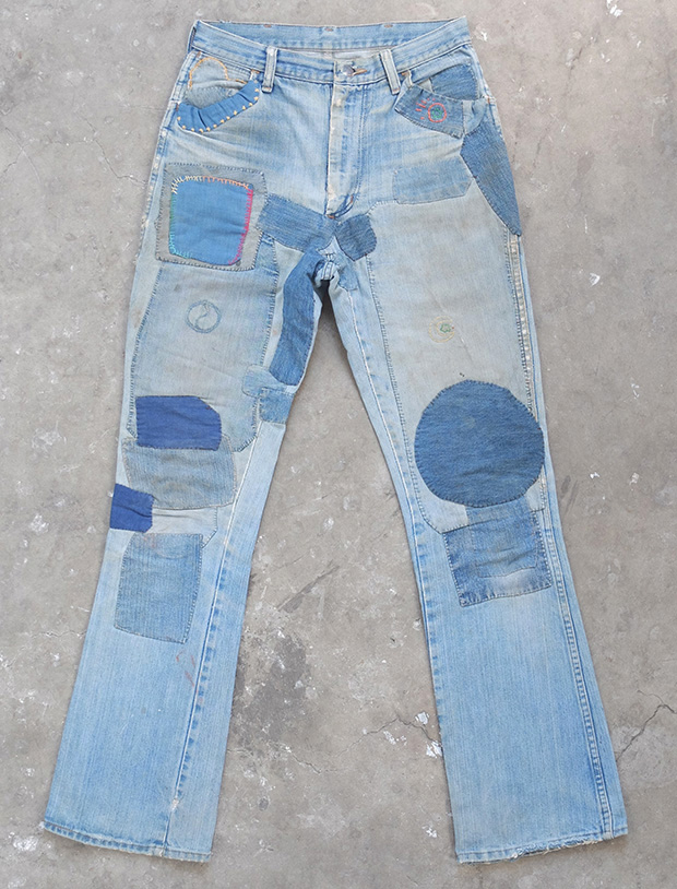 1970s Hippy Patched Wranglers (01419)