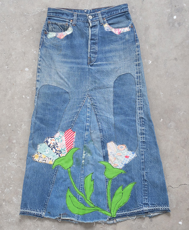 Cutomised Levi's Hippy Skirt (01446)