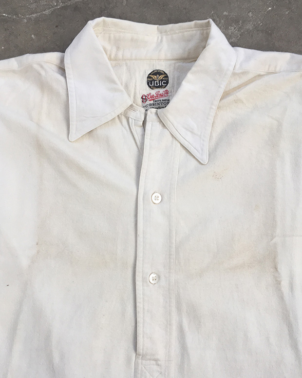 1930s English White Sports Shirt (01561)