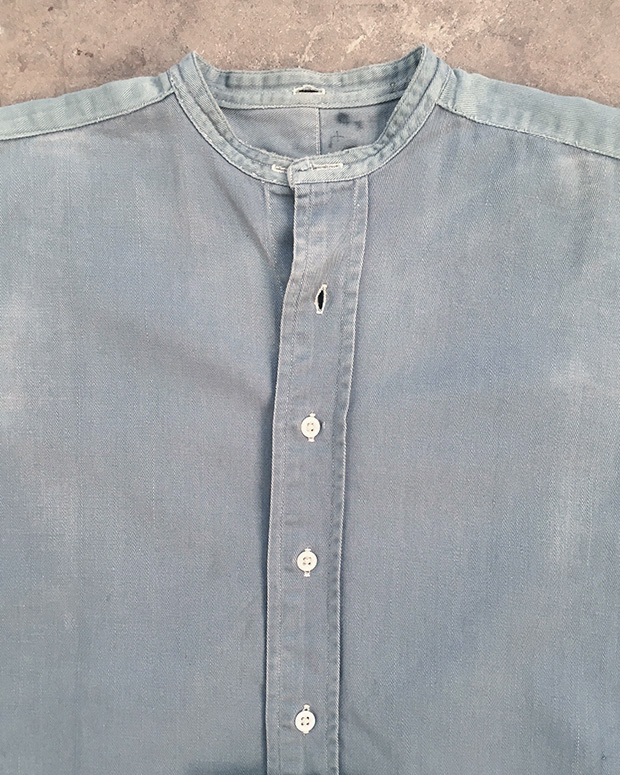 1940s Sun Faded Collarless RAF Shirt (01564)