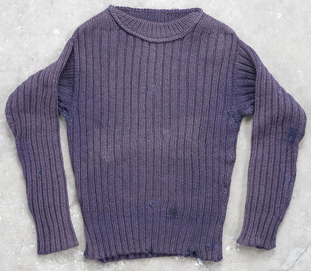 1920s Purple Repaired Maritime Knit (01579)