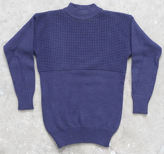 1950s British Part Waffle Naval Knit (01588)