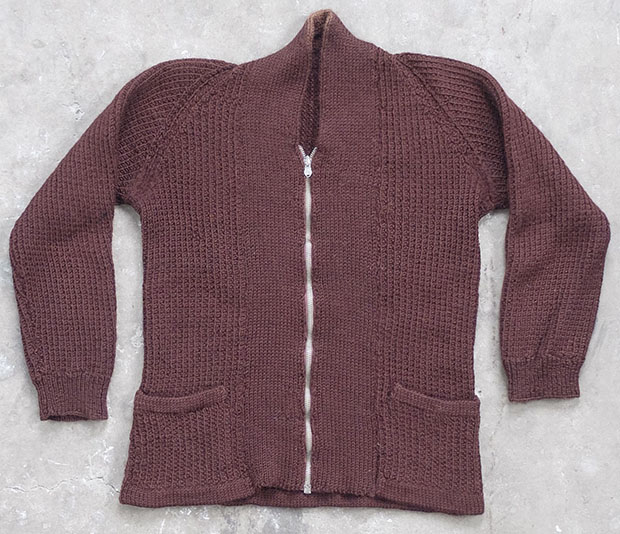 1940s Kids Zipped Cardigan (01599)