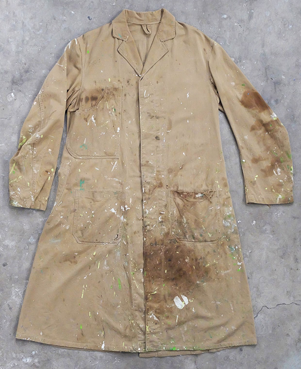 1940s English Paint-splashed Shop Coat (01785)