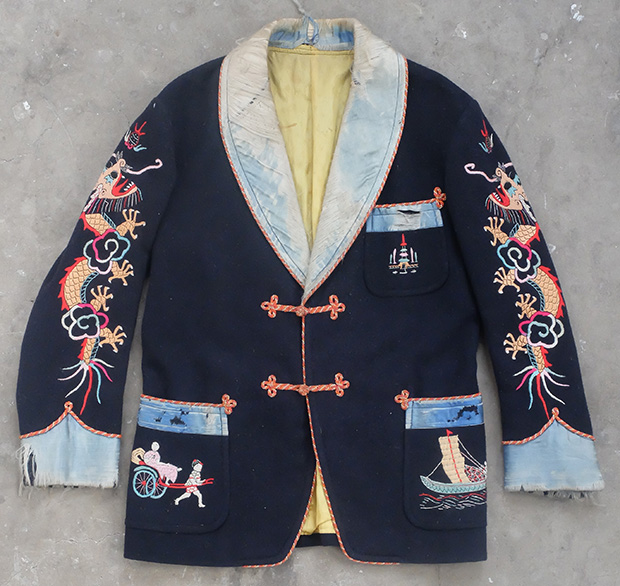 1940s Oriental Style US Forces Smoking Jacket (01835)